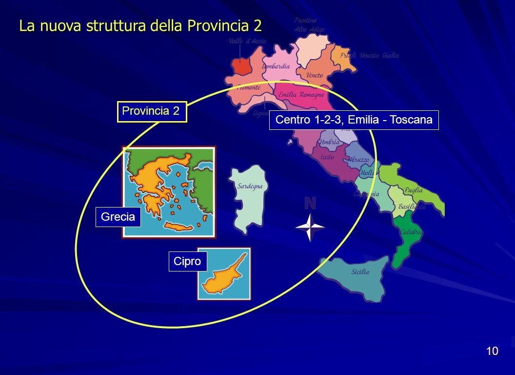 Centro 1-2-3, Emilia - Toscana