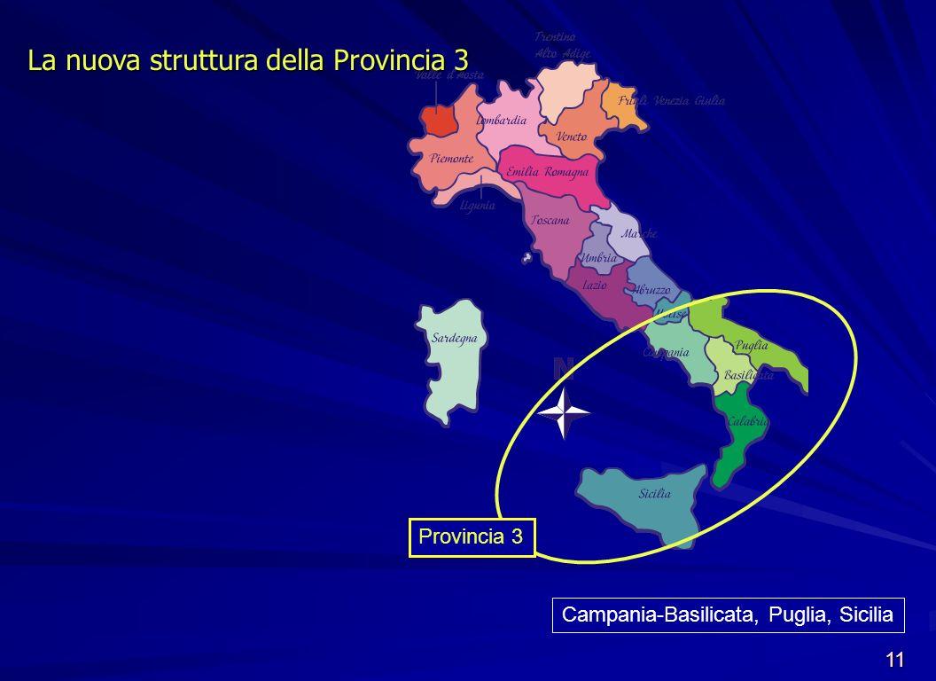 Campania-Basilicata, Puglia, Sicilia
