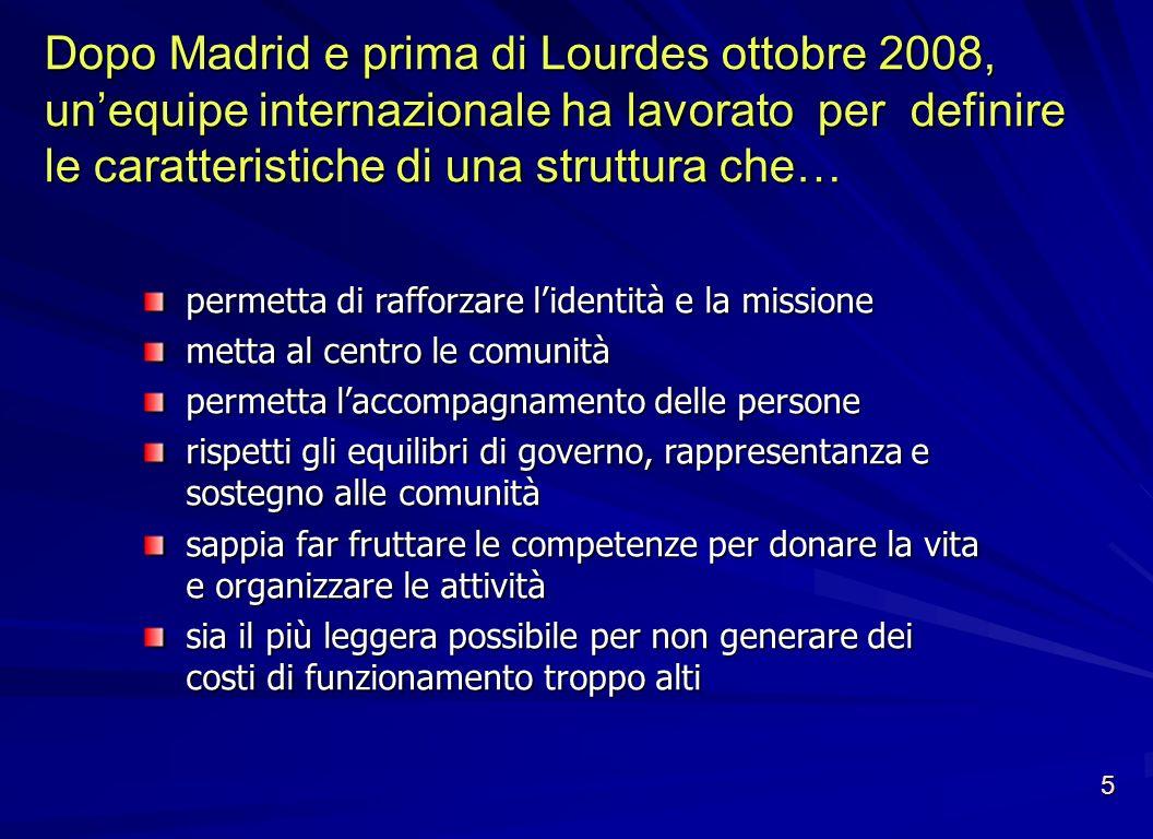 Dopo Madrid e prima di Lourdes ottobre 2008, un'equipe internazionale ha lavorato per definire le caratteristiche di una struttura che…