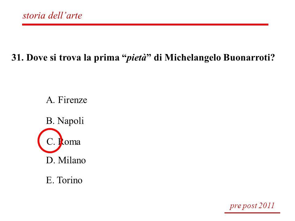 31. Dove si trova la prima pietà di Michelangelo Buonarroti