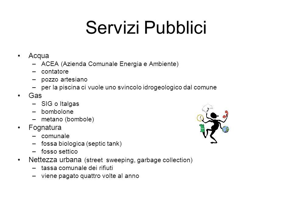 Servizi Pubblici Acqua Gas Fognatura