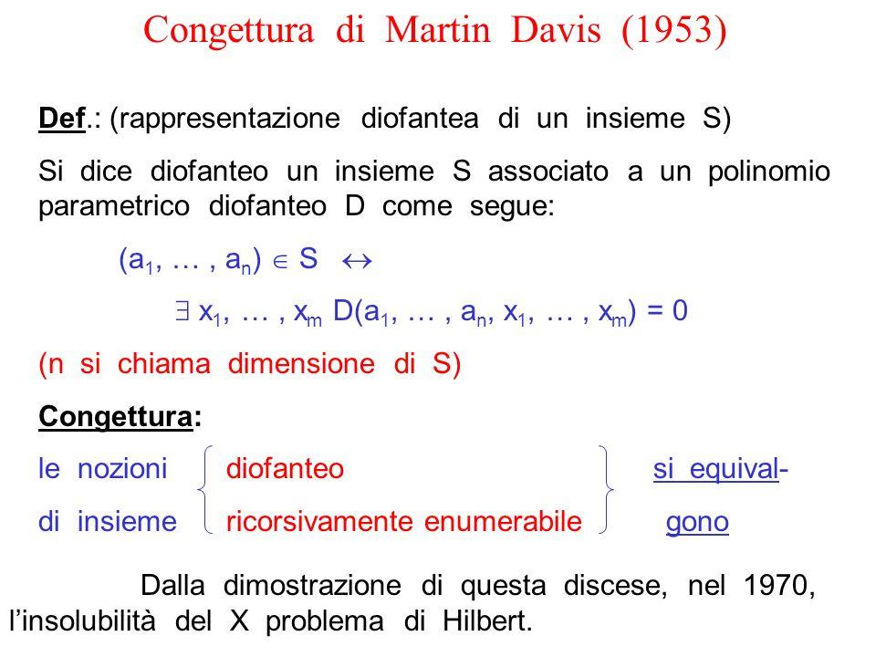 Congettura di Martin Davis (1953)