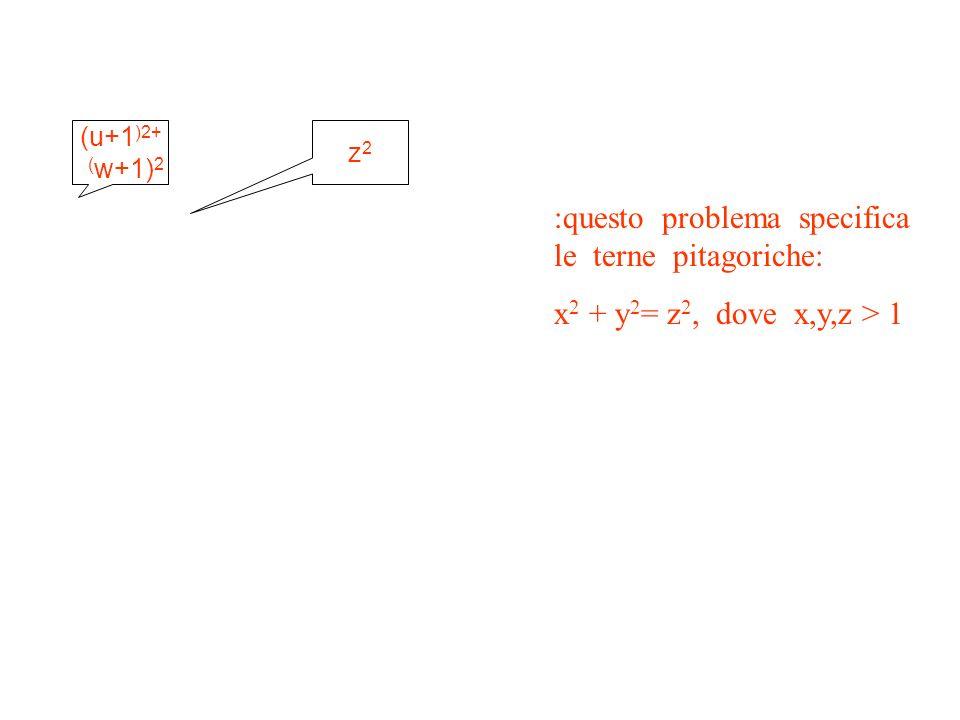 :questo problema specifica le terne pitagoriche: