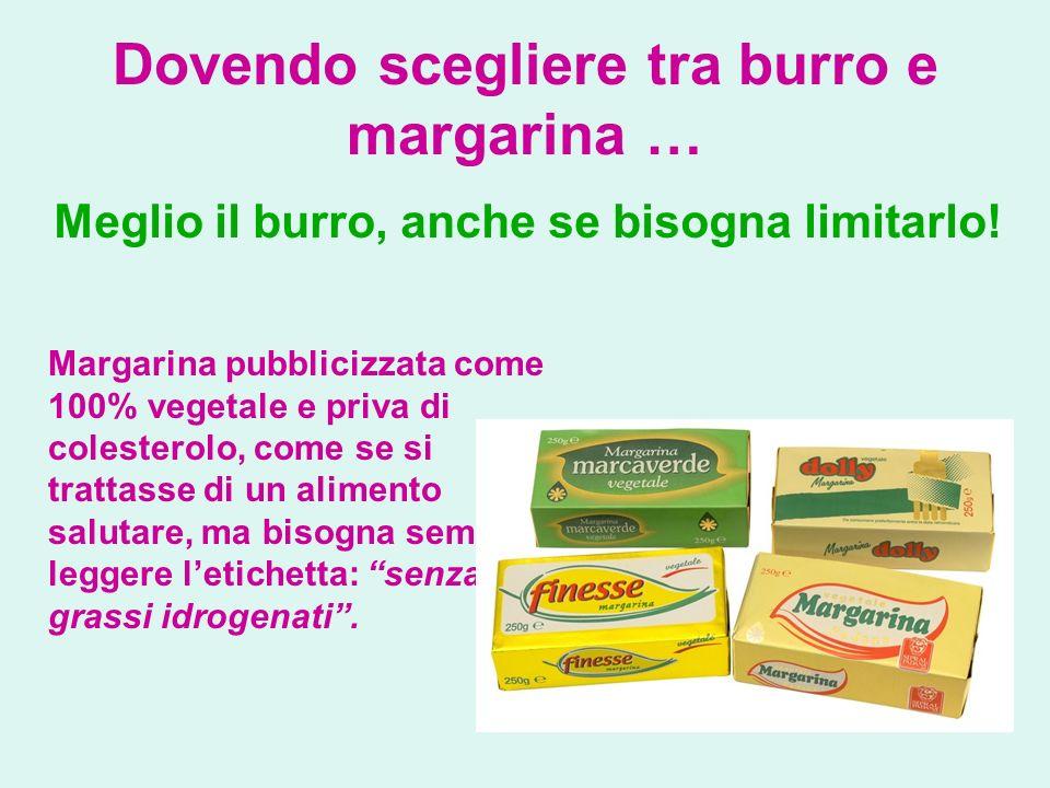 Dovendo scegliere tra burro e margarina …