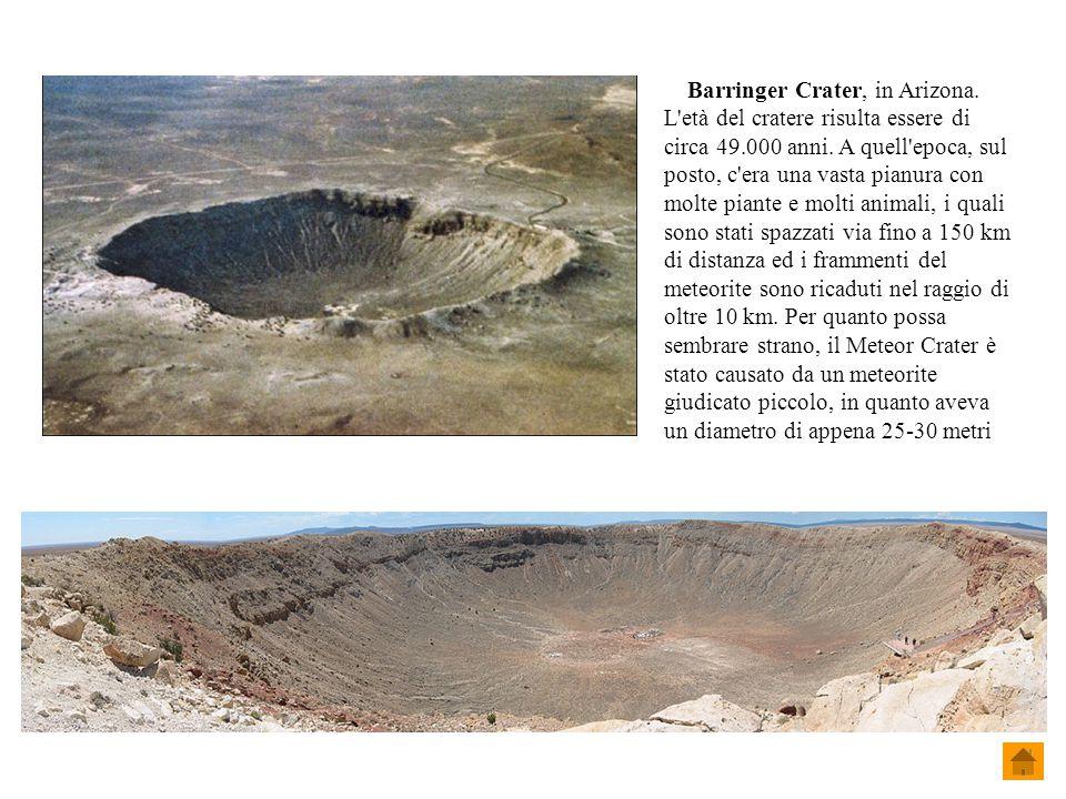 Barringer Crater, in Arizona.
