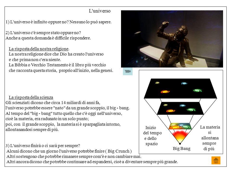 L universo 1) L universo è infinito oppure no Nessuno lo può sapere.