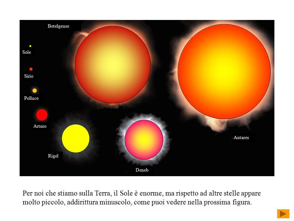 Sole Polluce. Sirio. Arturo. Rigel. Deneb. Antares. Betelgeuse.