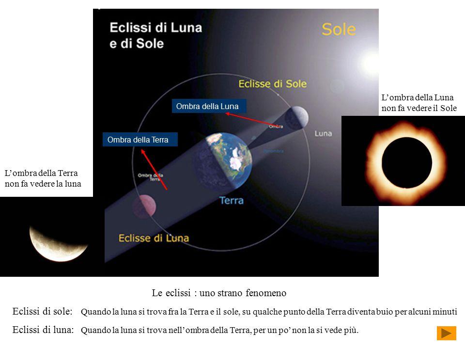 Le eclissi : uno strano fenomeno