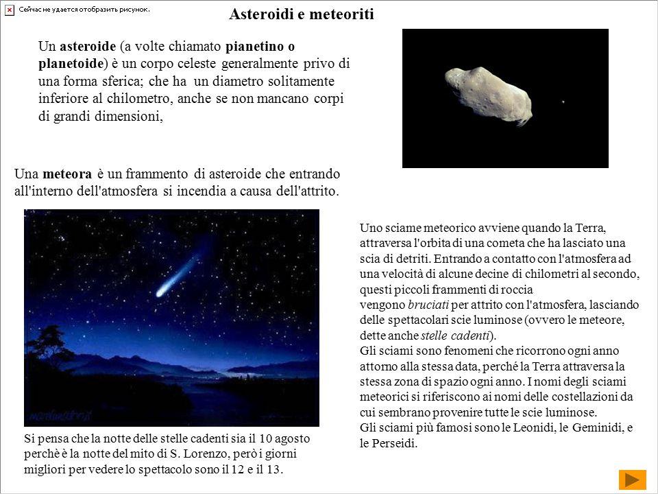 Asteroidi e meteoriti