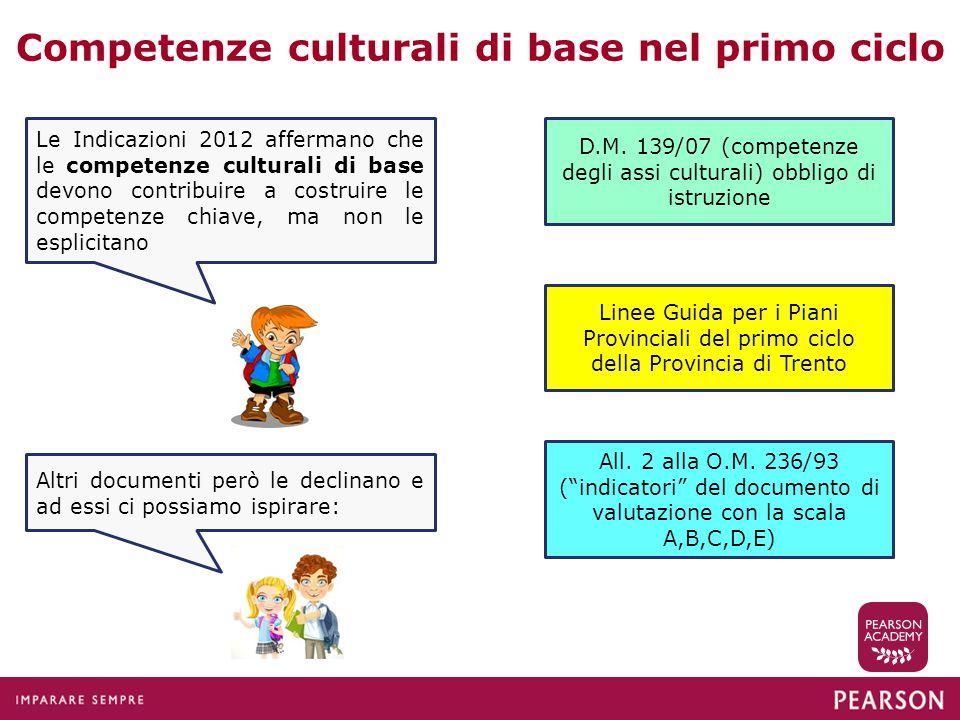 Competenze culturali di base nel primo ciclo