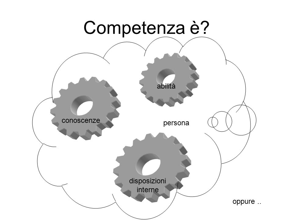 Competenza è abilità conoscenze persona disposizioni interne