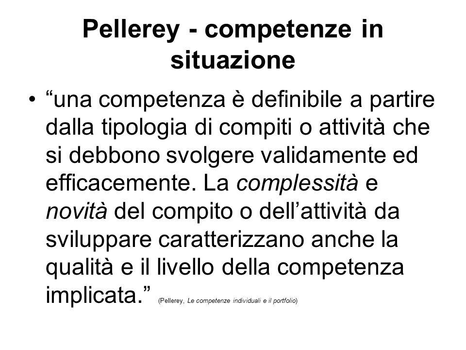 Pellerey - competenze in situazione