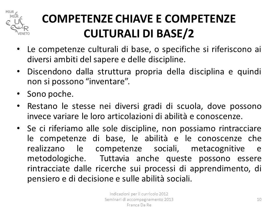 COMPETENZE CHIAVE E COMPETENZE CULTURALI DI BASE/2