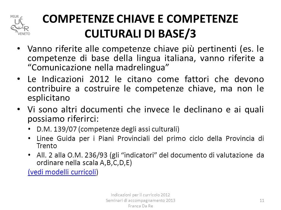 COMPETENZE CHIAVE E COMPETENZE CULTURALI DI BASE/3