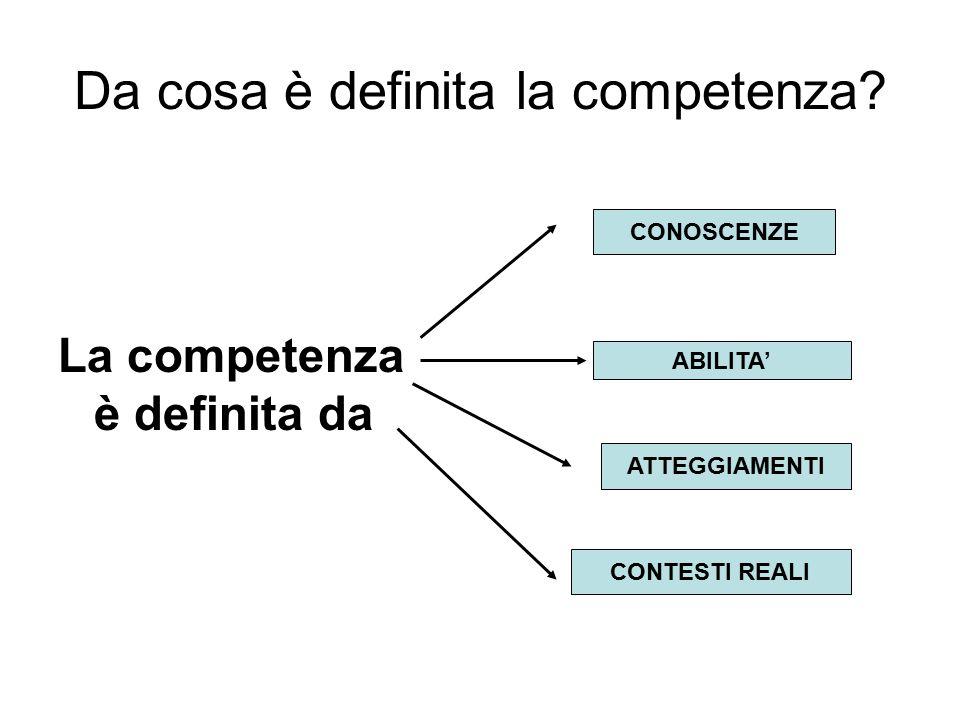 Da cosa è definita la competenza