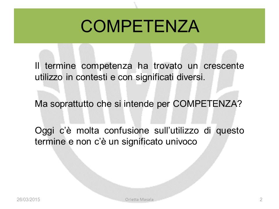COMPETENZA Il termine competenza ha trovato un crescente utilizzo in contesti e con significati diversi.
