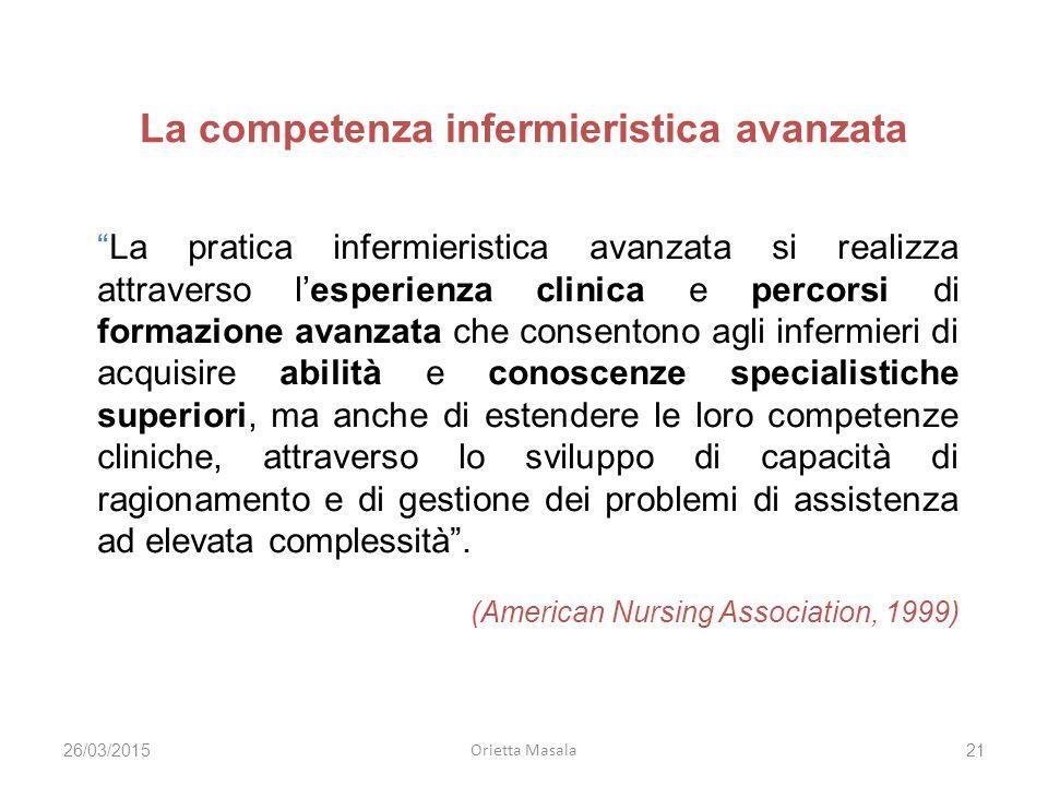 La competenza infermieristica avanzata