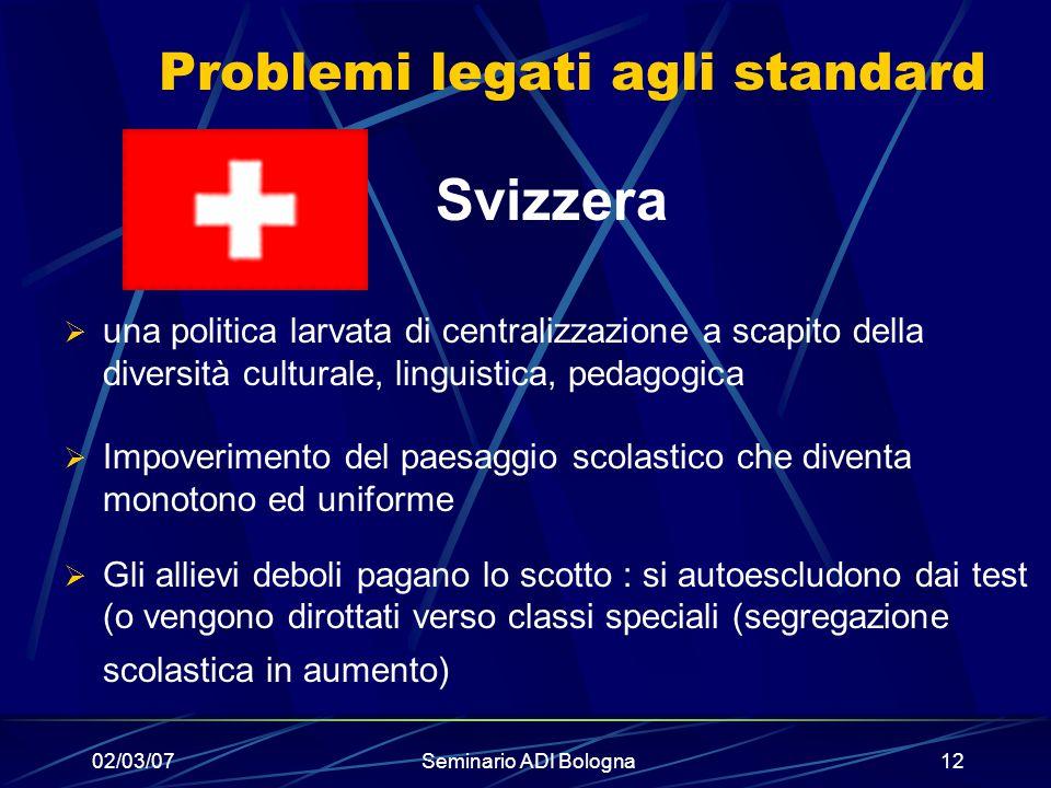 Problemi legati agli standard