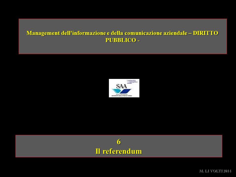 Management dell informazione e della comunicazione aziendale – DIRITTO PUBBLICO -
