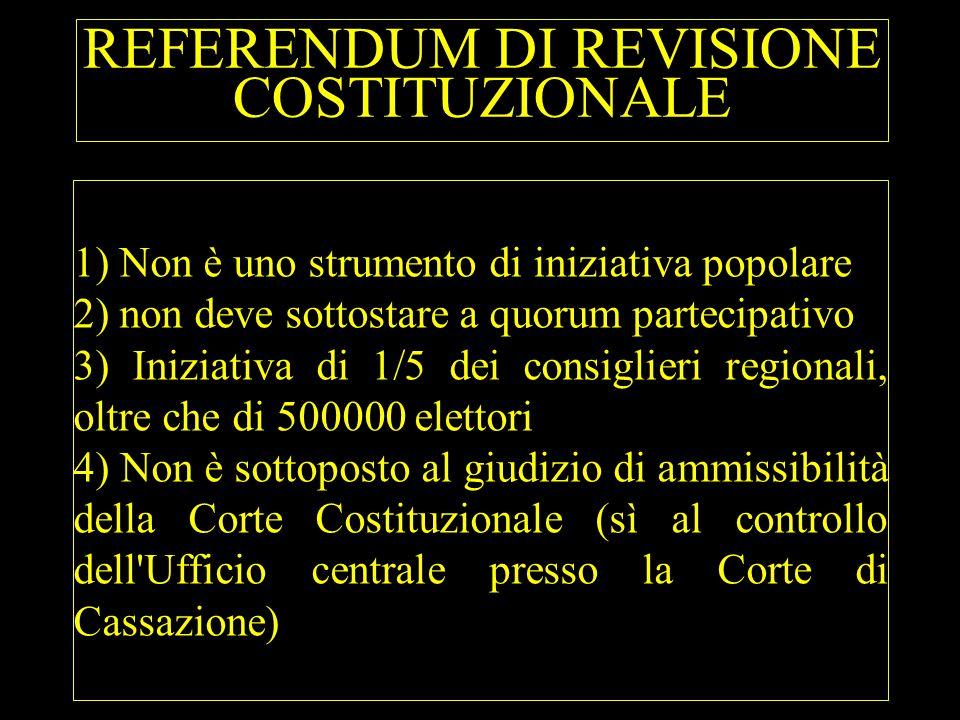 REFERENDUM DI REVISIONE COSTITUZIONALE