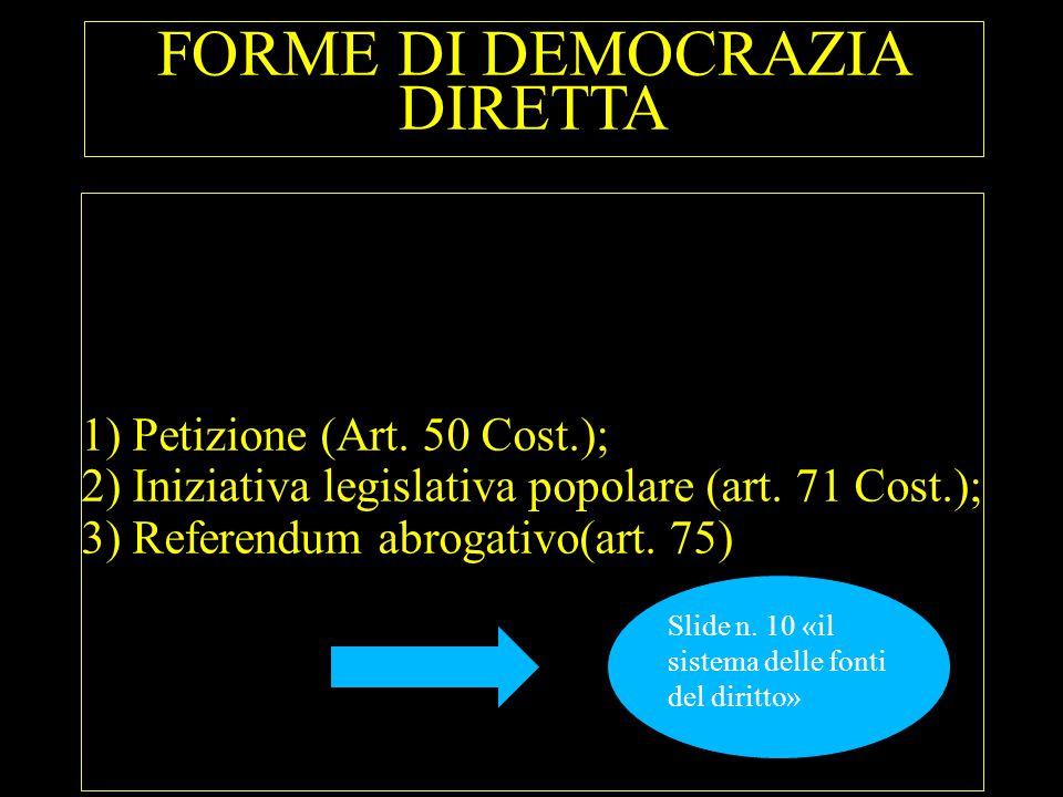 FORME DI DEMOCRAZIA DIRETTA