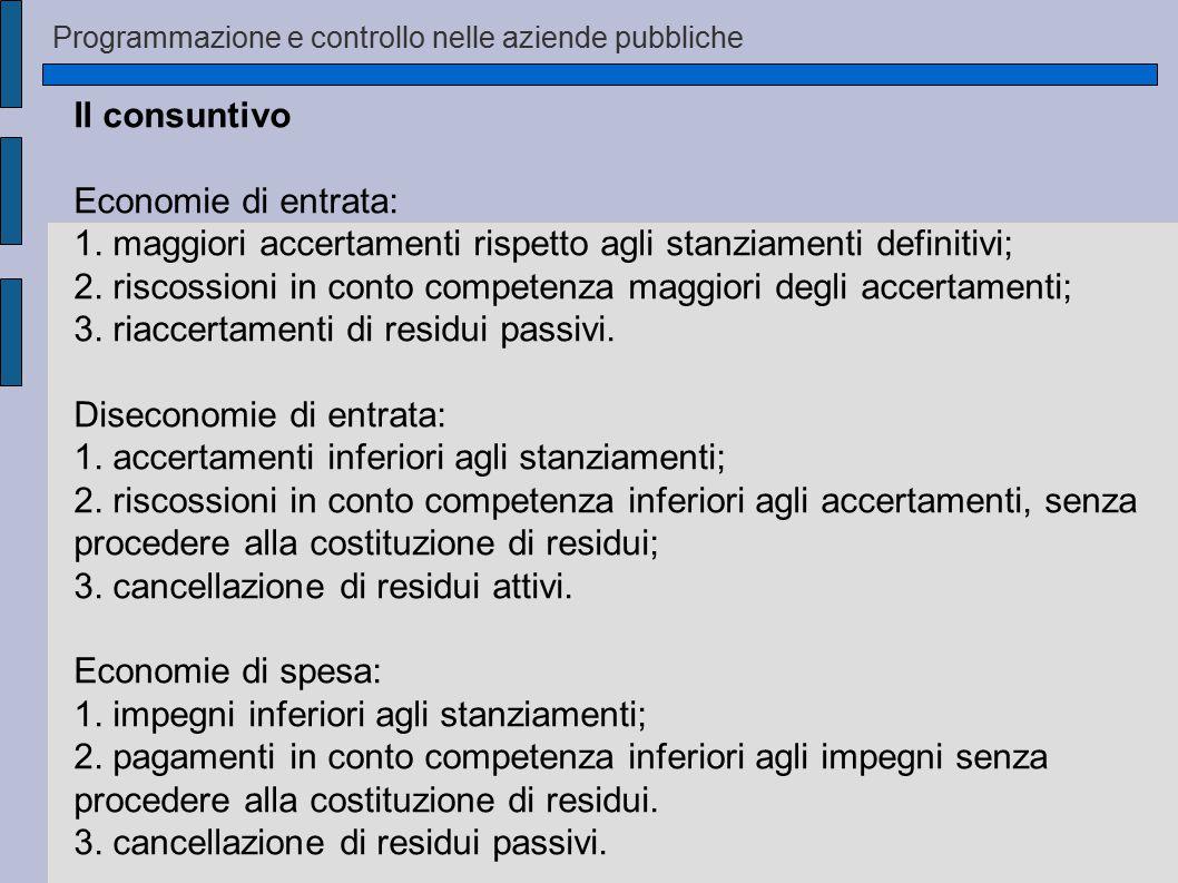 1. maggiori accertamenti rispetto agli stanziamenti definitivi;