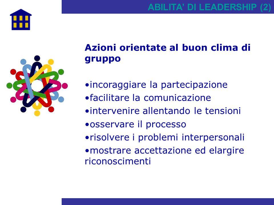 ABILITA' DI LEADERSHIP (2)