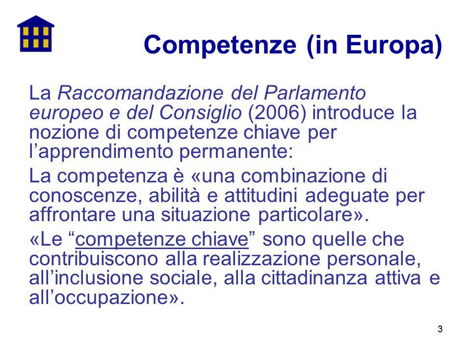Competenze (in Europa)