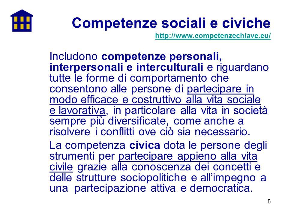 Competenze sociali e civiche http://www.competenzechiave.eu/