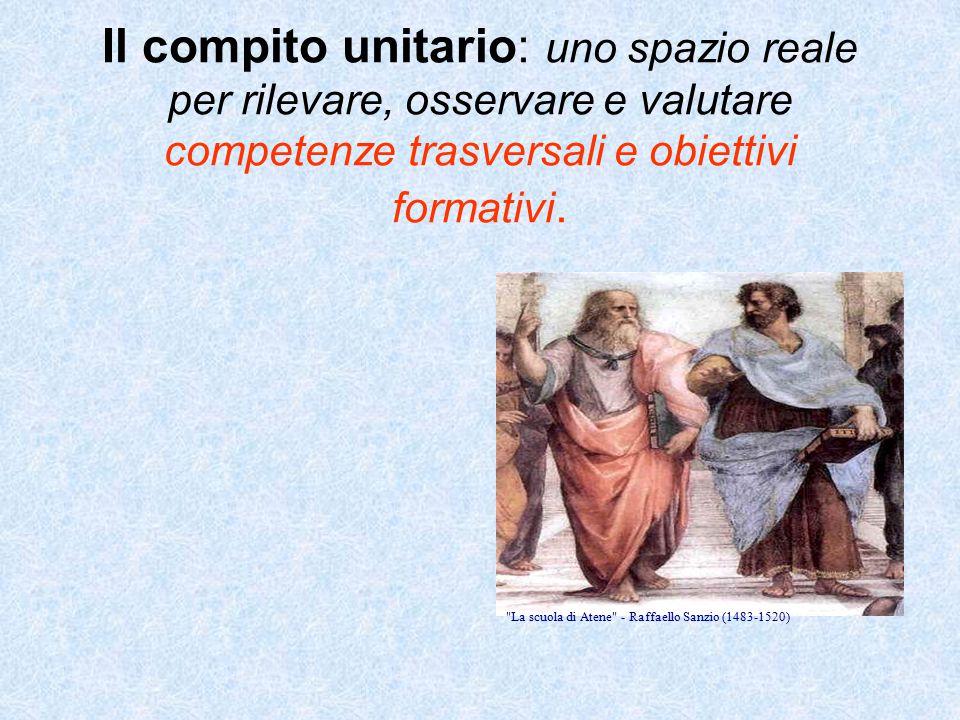 Il compito unitario: uno spazio reale per rilevare, osservare e valutare competenze trasversali e obiettivi formativi.