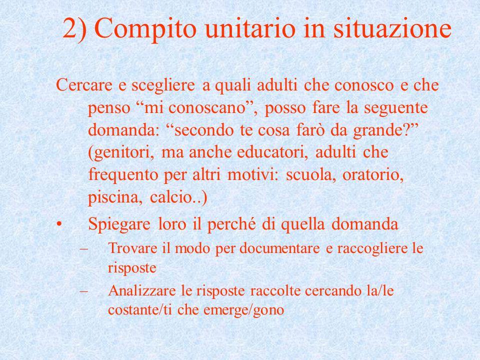 2) Compito unitario in situazione