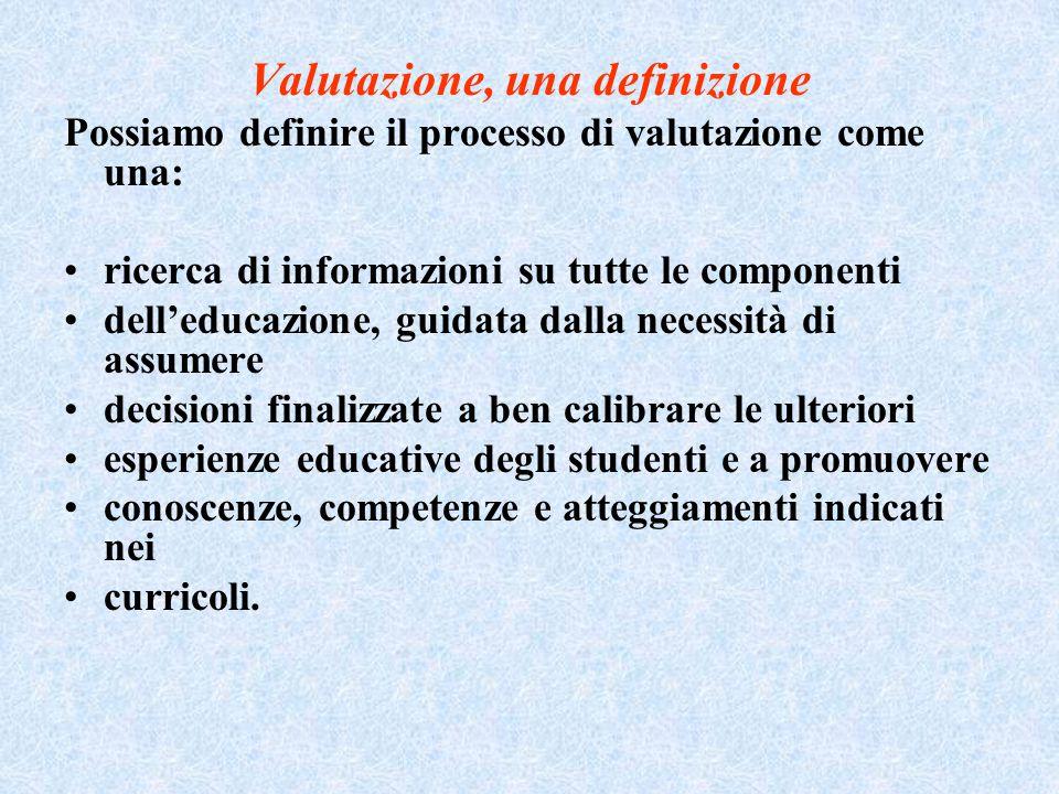 Valutazione, una definizione