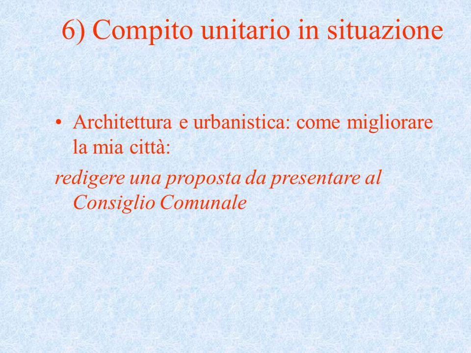 6) Compito unitario in situazione
