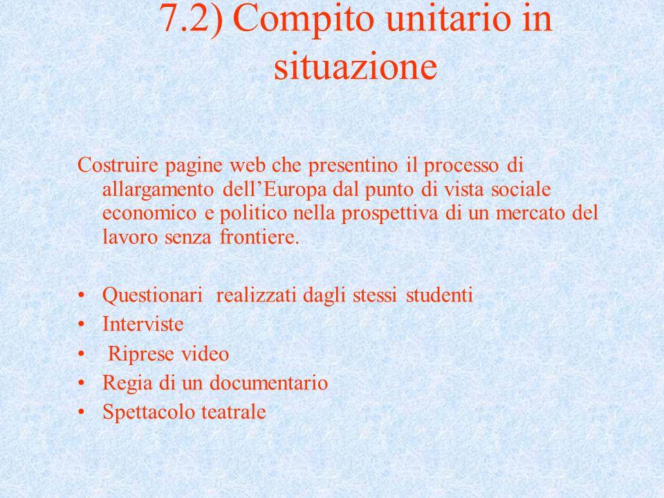 7.2) Compito unitario in situazione
