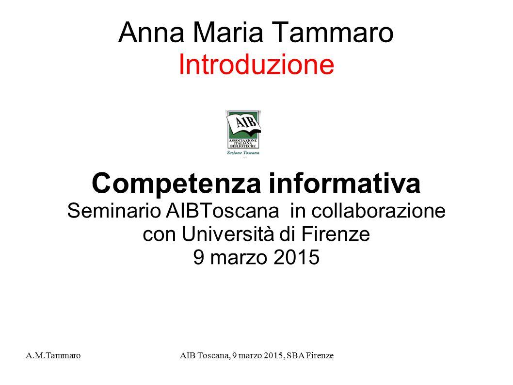 Anna Maria Tammaro Introduzione