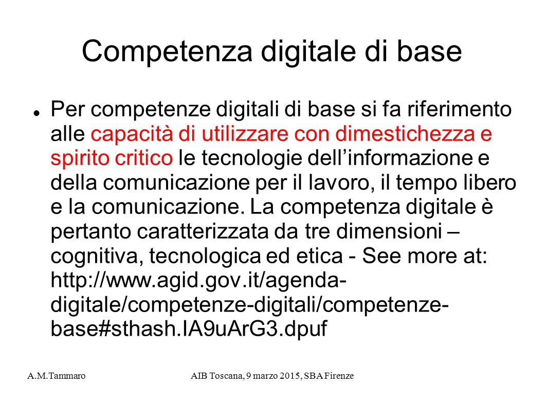 Competenza digitale di base
