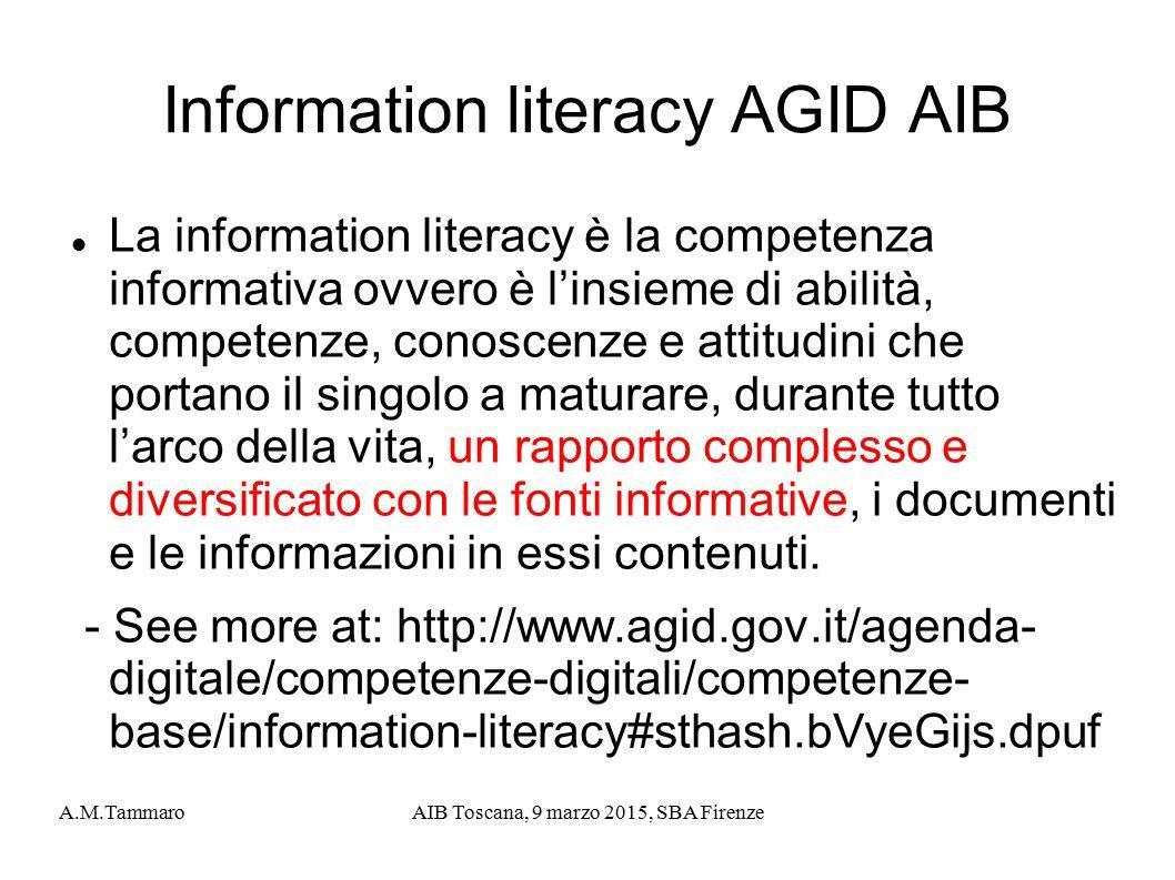 Information literacy AGID AIB