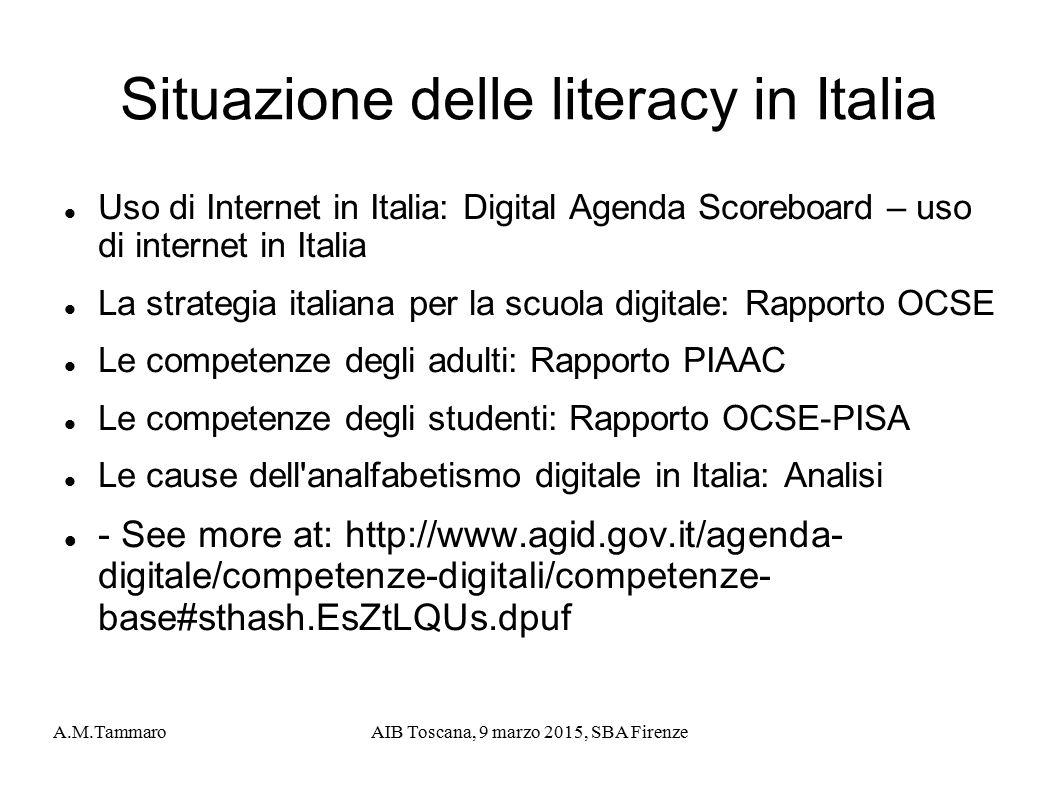 Situazione delle literacy in Italia
