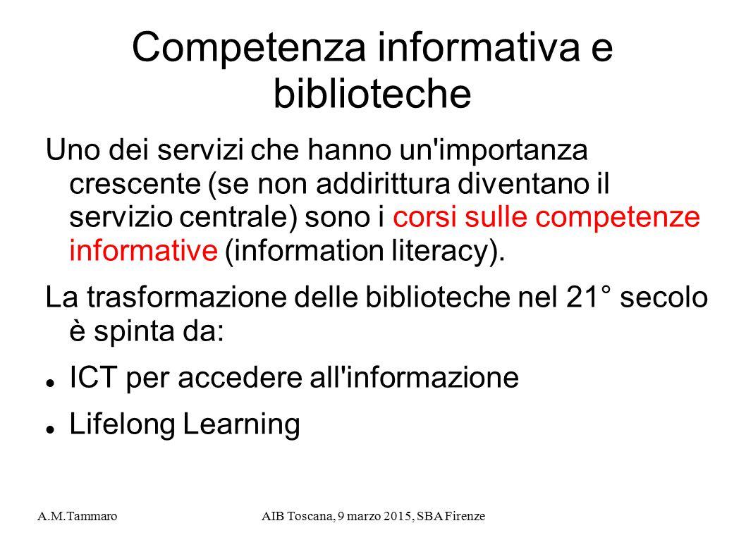 Competenza informativa e biblioteche