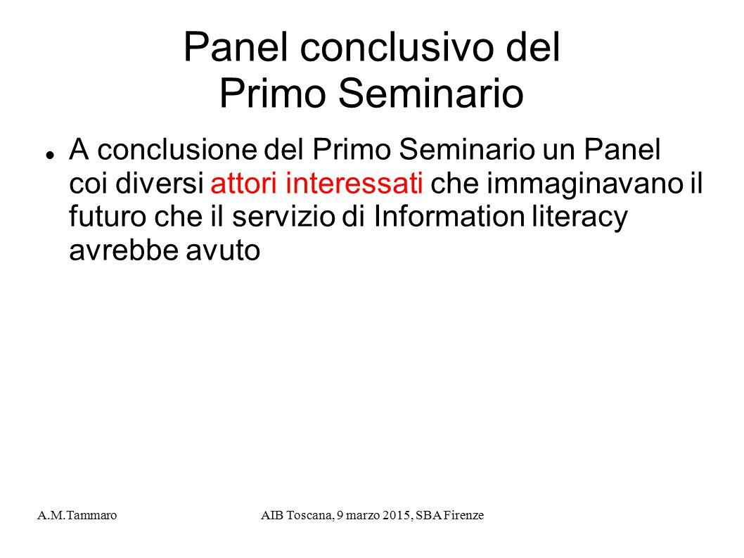 Panel conclusivo del Primo Seminario