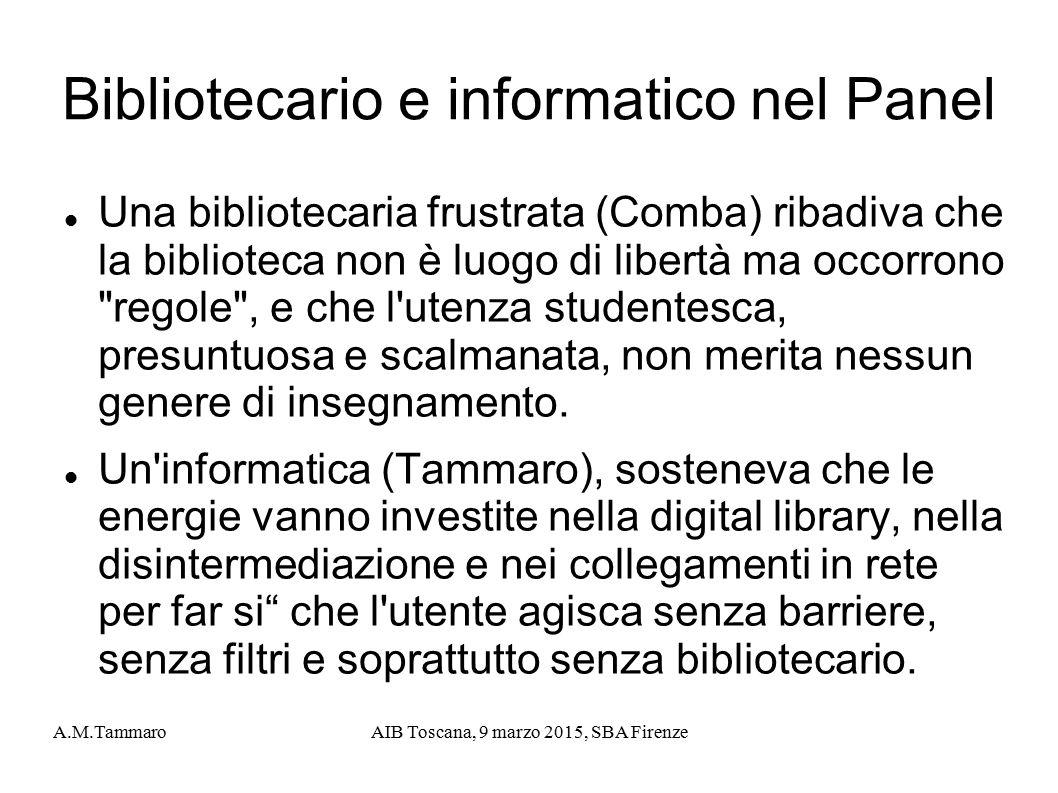 Bibliotecario e informatico nel Panel