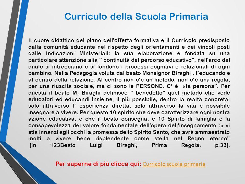 Curriculo della Scuola Primaria