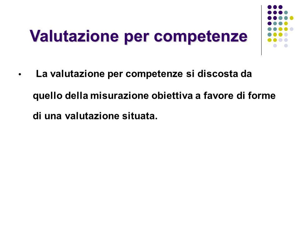 Valutazione per competenze