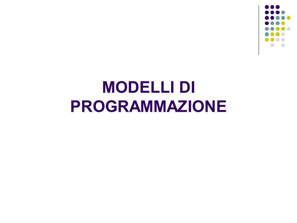MODELLI DI PROGRAMMAZIONE