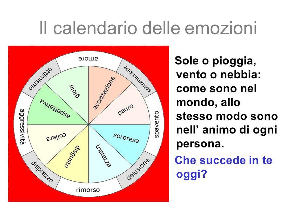Il calendario delle emozioni