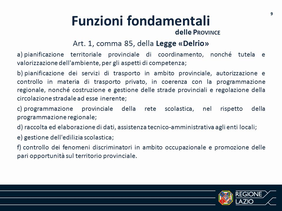 Funzioni fondamentali
