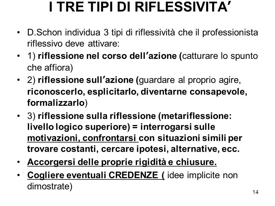 I TRE TIPI DI RIFLESSIVITA'