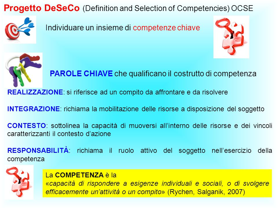 Progetto DeSeCo (Definition and Selection of Competencies) OCSE