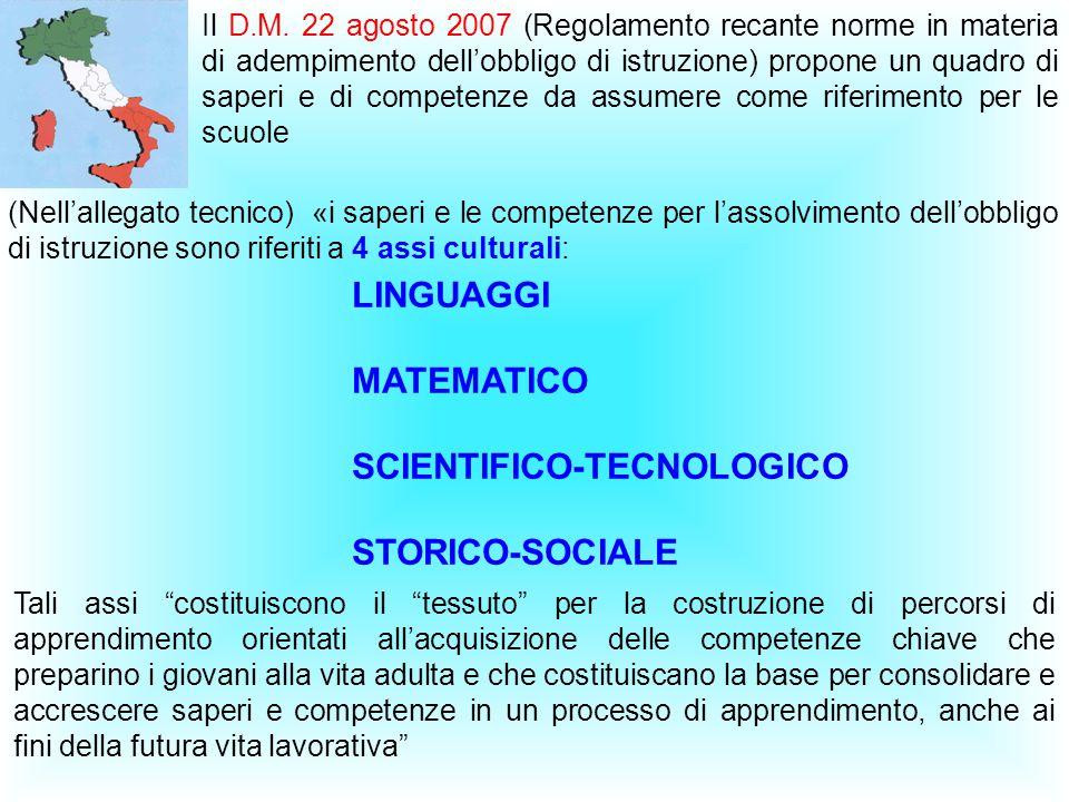 SCIENTIFICO-TECNOLOGICO STORICO-SOCIALE