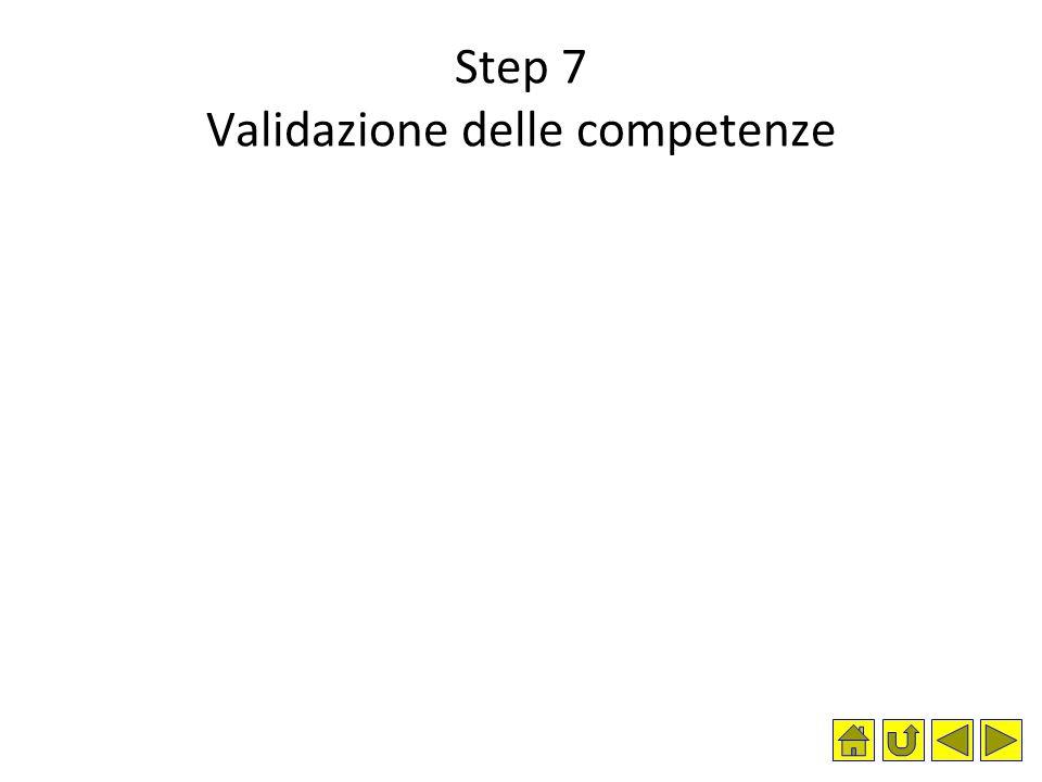 Step 7 Validazione delle competenze